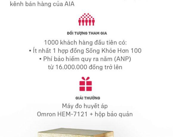 AIA tổ chức chương trình khuyến mãi