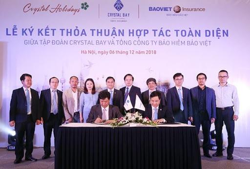 Bảo Việt nhân thọ ký hợp tác với tập đoàn BĐS Crystal Bay
