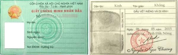 CMND là một loại giấy tờ tùy thân của công dân