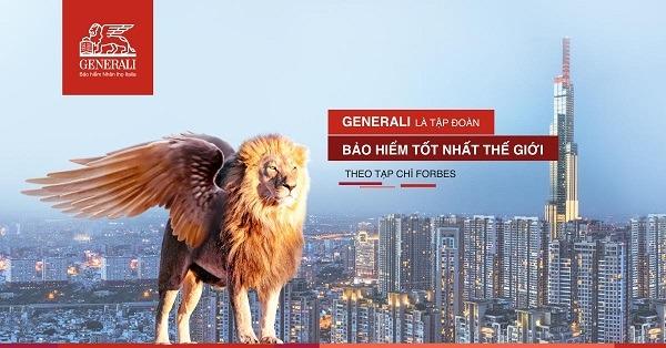 Bảo hiểm Generali là một trong những bảo hiểm tốt nhất thế giới do tạp chí Forbes bình chọn