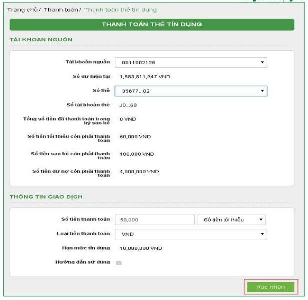 Đăng ký dịch vụ thanh toán trực tuyến vietcombank