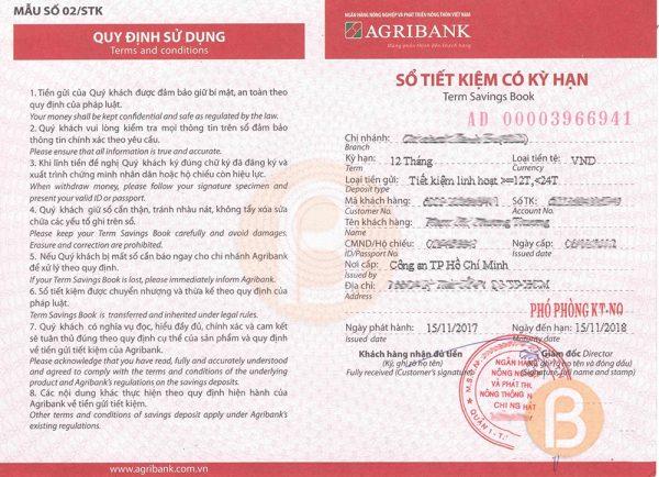 Gửi tiết kiệm hàng tháng Agribank