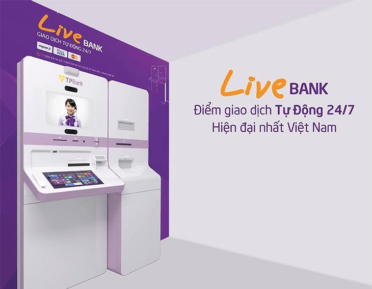 TPBank Livebank - điểm giao dịch tự động đầy hiện đại của ngân hàng TPBank.